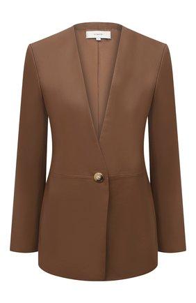 Женский кожаный жакет VINCE коричневого цвета, арт. V720491334 | Фото 1