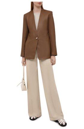 Женский кожаный жакет VINCE коричневого цвета, арт. V720491334 | Фото 2