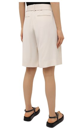 Женские шорты из шерсти и вискозы ZIMMERMANN светло-бежевого цвета, арт. 1039AB0T | Фото 4 (Женское Кросс-КТ: Шорты-одежда; Материал внешний: Шерсть, Вискоза; Кросс-КТ: Широкие; Длина Ж (юбки, платья, шорты): До колена; Стили: Кэжуэл)