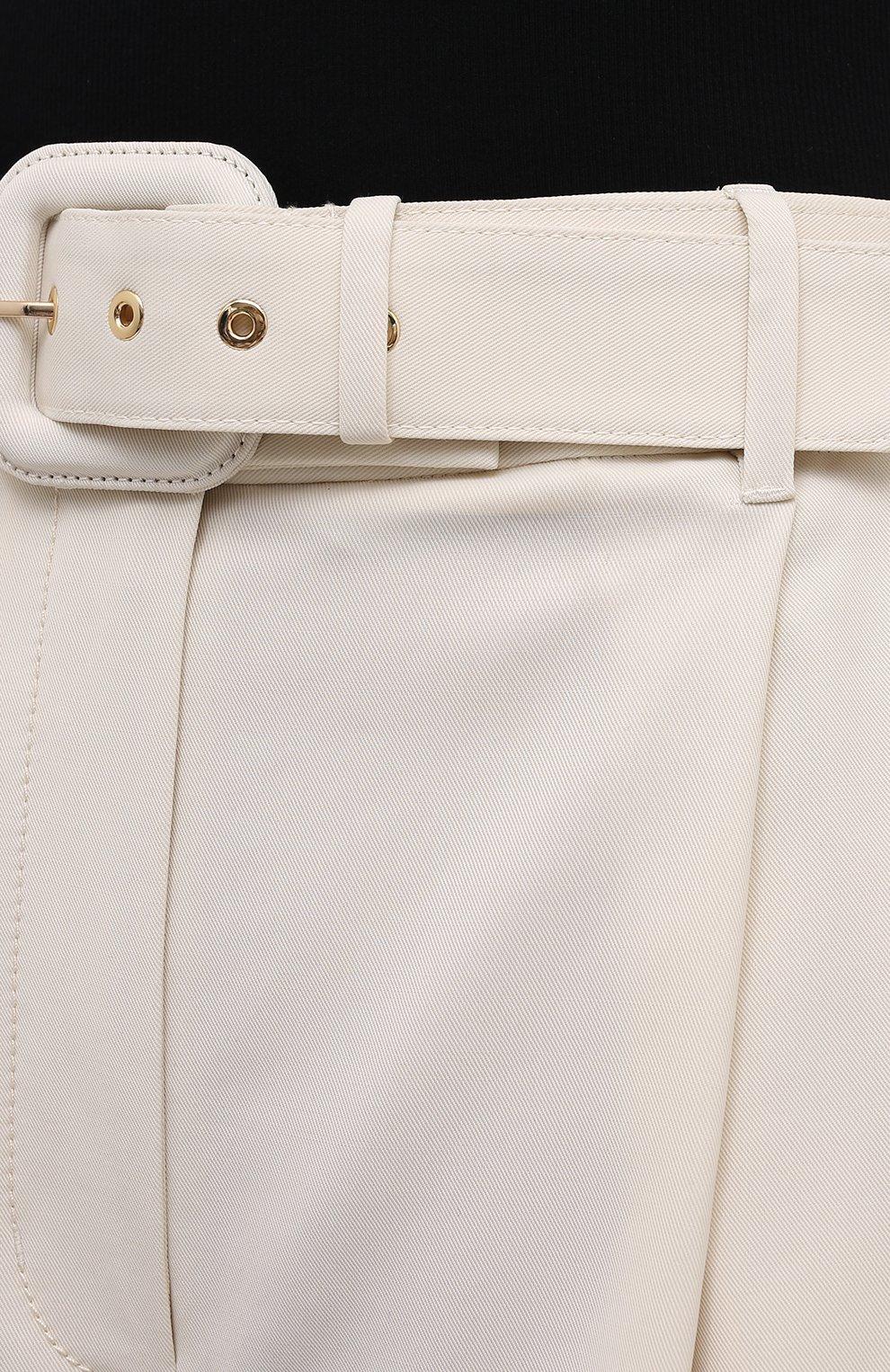 Женские шорты из шерсти и вискозы ZIMMERMANN светло-бежевого цвета, арт. 1039AB0T | Фото 5 (Женское Кросс-КТ: Шорты-одежда; Материал внешний: Шерсть, Вискоза; Кросс-КТ: Широкие; Длина Ж (юбки, платья, шорты): До колена; Стили: Кэжуэл)