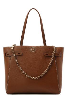 Женский сумка-тоут carmen large MICHAEL MICHAEL KORS коричневого цвета, арт. 30S1GNMT3L | Фото 1