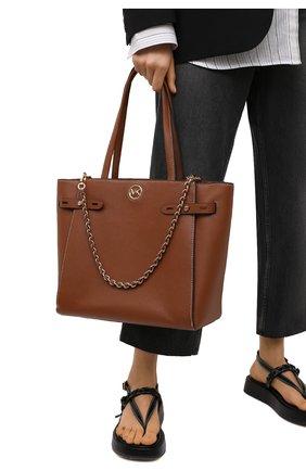 Женский сумка-тоут carmen large MICHAEL MICHAEL KORS коричневого цвета, арт. 30S1GNMT3L | Фото 2