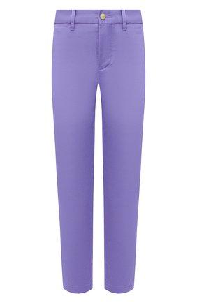 Женские хлопковые брюки POLO RALPH LAUREN фиолетового цвета, арт. 211800738 | Фото 1