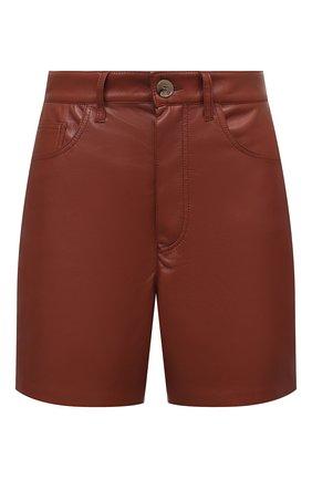 Женские шорты из экокожи NANUSHKA коричневого цвета, арт. LEANA_BRICK_VEGAN LEATHER | Фото 1