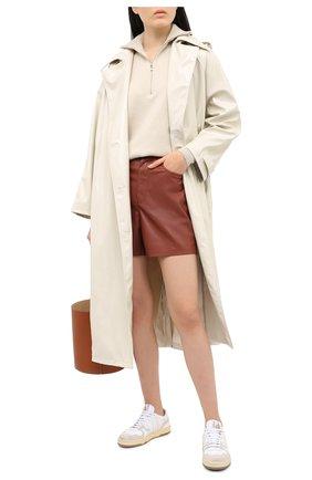 Женские шорты из экокожи NANUSHKA коричневого цвета, арт. LEANA_BRICK_VEGAN LEATHER | Фото 2