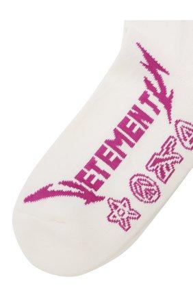 Женские хлопковые носки VETEMENTS белого цвета, арт. UE51S0100W 1054/W | Фото 2