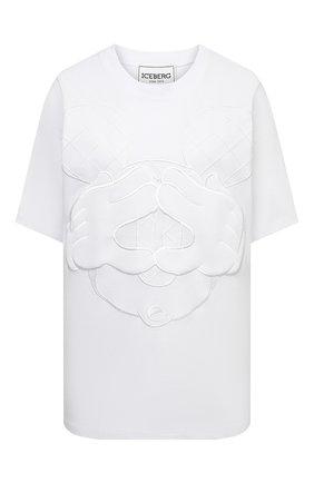 Женская хлопковая футболка ICEBERG белого цвета, арт. 21E I2P0/F5A2/6301 | Фото 1