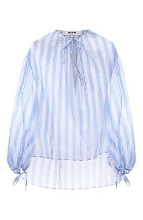 Женская хлопковая блузка MSGM голубого цвета, арт. 3042MDM119A 217310 | Фото 1