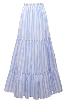 Женская хлопковая юбка MSGM голубого цвета, арт. 3042MDD108A 217310 | Фото 1
