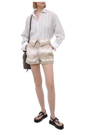 Женские джинсовые шорты STELLA MCCARTNEY бежевого цвета, арт. 603007/S0H31 | Фото 2