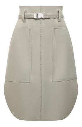 Женская хлопковая юбка STELLA MCCARTNEY зеленого цвета, арт. 603150/S0A36 | Фото 1