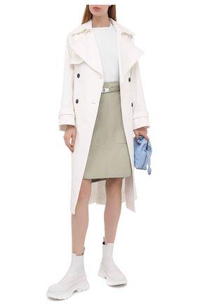 Женская хлопковая юбка STELLA MCCARTNEY зеленого цвета, арт. 603150/S0A36 | Фото 2