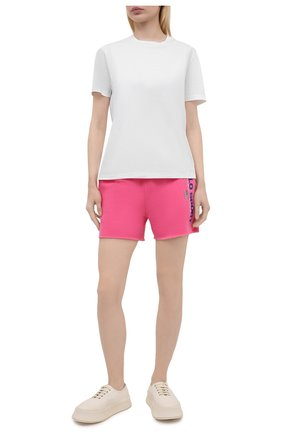 Женские хлопковые шорты POLO RALPH LAUREN розового цвета, арт. 211838094   Фото 2