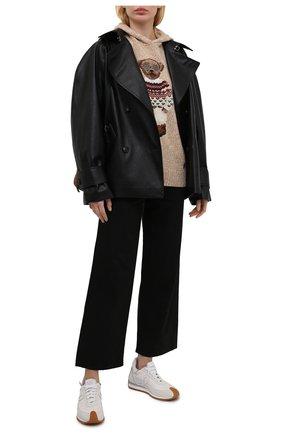 Женский шерстяное худи POLO RALPH LAUREN бежевого цвета, арт. 211827804 | Фото 2