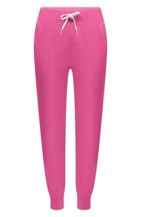Женские хлопковые джоггеры POLO RALPH LAUREN розового цвета, арт. 211780215   Фото 1