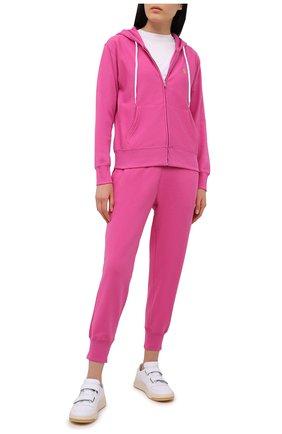 Женские хлопковые джоггеры POLO RALPH LAUREN розового цвета, арт. 211780215   Фото 2