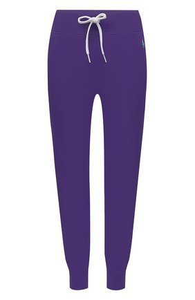 Женские хлопковые джоггеры POLO RALPH LAUREN фиолетового цвета, арт. 211780215 | Фото 1