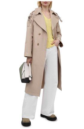 Женский хлопковый пуловер POLO RALPH LAUREN желтого цвета, арт. 211580008   Фото 2