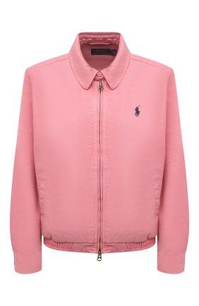 Женская джинсовая куртка POLO RALPH LAUREN розового цвета, арт. 211797215 | Фото 1