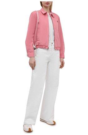 Женская джинсовая куртка POLO RALPH LAUREN розового цвета, арт. 211797215 | Фото 2