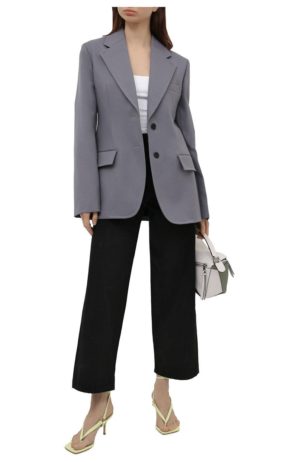 Женские кожаные босоножки lalita 75 STUART WEITZMAN желтого цвета, арт. S0870   Фото 2 (Материал внутренний: Натуральная кожа; Каблук высота: Средний; Каблук тип: Шпилька; Подошва: Плоская)