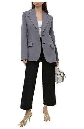 Женские кожаные босоножки lalita 75 STUART WEITZMAN желтого цвета, арт. S0870 | Фото 2