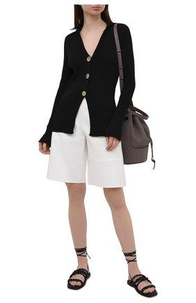 Женские кожаные сандалии calypso STUART WEITZMAN черного цвета, арт. S0998 | Фото 2