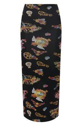 Женская юбка из вискозы VERSACE JEANS COUTURE разноцветного цвета, арт. A9HWA330-WDP816/S0020 | Фото 1