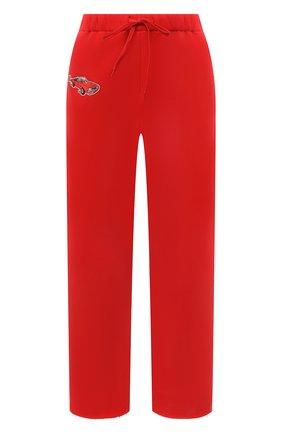 Женские хлопковые брюки NATASHA ZINKO красного цвета, арт. SS21503-19 | Фото 1