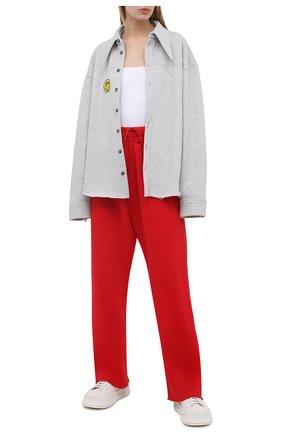 Женские хлопковые брюки NATASHA ZINKO красного цвета, арт. SS21503-19 | Фото 2