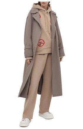 Женские хлопковые брюки NATASHA ZINKO бежевого цвета, арт. SS21503-15 | Фото 2