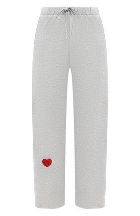 Женские хлопковые брюки NATASHA ZINKO серого цвета, арт. SS21503-05 | Фото 1