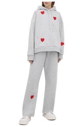 Женские хлопковые брюки NATASHA ZINKO серого цвета, арт. SS21503-05 | Фото 2