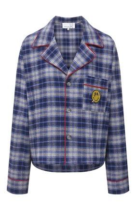 Женская хлопковая рубашка NATASHA ZINKO синего цвета, арт. SS21209-30/05 | Фото 1