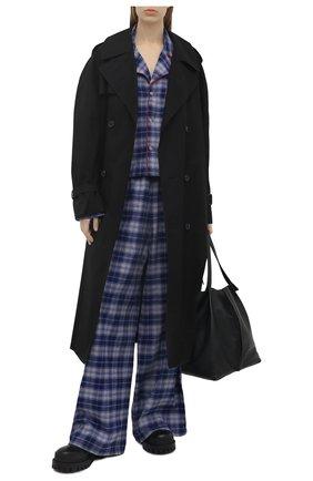 Женская хлопковая рубашка NATASHA ZINKO синего цвета, арт. SS21209-30/05 | Фото 2