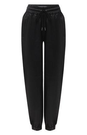 Женские кожаные джоггеры ALEXANDER WANG черного цвета, арт. 1WC2214353 | Фото 1