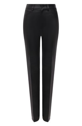 Женские кожаные брюки ALEXANDER WANG черного цвета, арт. 1WC2214351   Фото 1