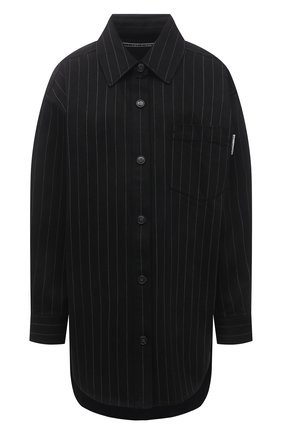 Женская джинсовая рубашка ALEXANDER WANG черного цвета, арт. 1WC2213147 | Фото 1