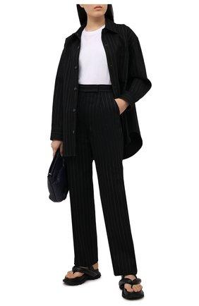 Женская джинсовая рубашка ALEXANDER WANG черного цвета, арт. 1WC2213147 | Фото 2