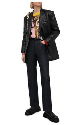 Женский свитшот DOLCE & GABBANA разноцветного цвета, арт. F9I83Z/G7Y0N | Фото 2 (Рукава: Длинные; Длина (для топов): Стандартные; Материал внешний: Синтетический материал, Хлопок; Стили: Спорт-шик; Женское Кросс-КТ: Свитшот-одежда)