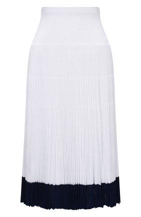Женская юбка из вискозы RALPH LAUREN белого цвета, арт. 290840671 | Фото 1 (Длина Ж (юбки, платья, шорты): Миди; Материал подклада: Вискоза; Материал внешний: Вискоза; Женское Кросс-КТ: Юбка-одежда, юбка-плиссе; Стили: Романтичный)