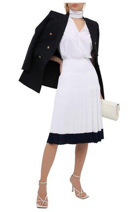 Женская юбка из вискозы RALPH LAUREN белого цвета, арт. 290840671 | Фото 2 (Длина Ж (юбки, платья, шорты): Миди; Материал подклада: Вискоза; Материал внешний: Вискоза; Женское Кросс-КТ: Юбка-одежда, юбка-плиссе; Стили: Романтичный)