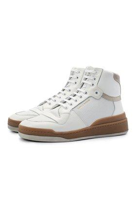 Женские кожаные кроссовки sl24 SAINT LAURENT белого цвета, арт. 610619/04GA0 | Фото 1
