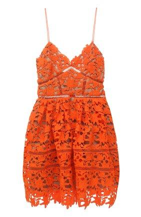 Женское платье SELF-PORTRAIT оранжевого цвета, арт. SS21-089 | Фото 1