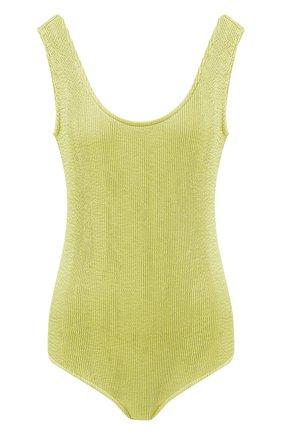 Женский слитный купальник BOTTEGA VENETA светло-зеленого цвета, арт. 648589/3V945 | Фото 1