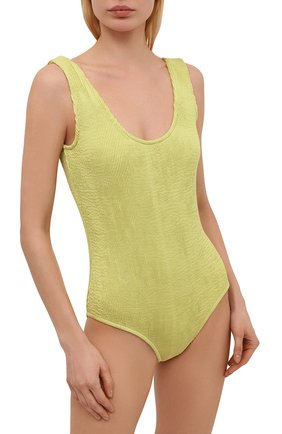 Женский слитный купальник BOTTEGA VENETA светло-зеленого цвета, арт. 648589/3V945 | Фото 2