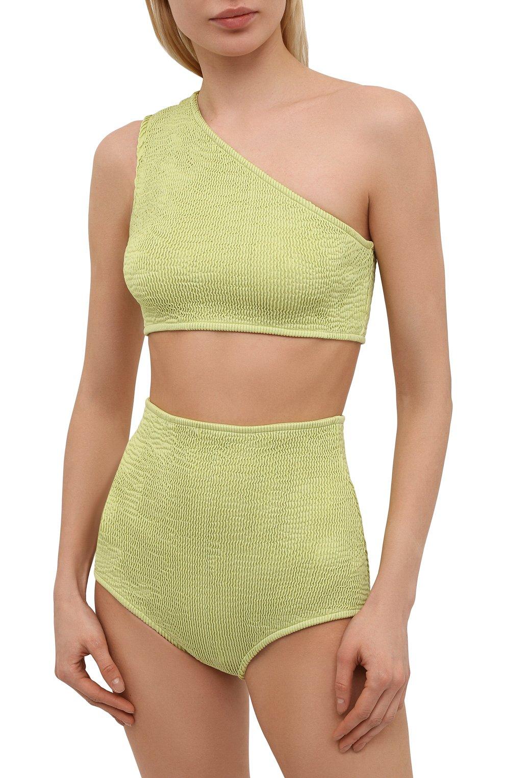 Женский раздельный купальник BOTTEGA VENETA светло-зеленого цвета, арт. 625398/3V945 | Фото 2