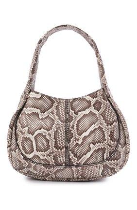 Женская сумка из кожи питона TOD'S бежевого цвета, арт. XBWA0US0200PQW/PBIV   Фото 1