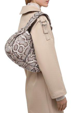 Женская сумка из кожи питона TOD'S бежевого цвета, арт. XBWA0US0200PQW/PBIV   Фото 2