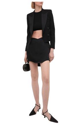 Женская юбка KALMANOVICH черного цвета, арт. SS21K09 | Фото 2